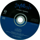 I Cant Dance single disk